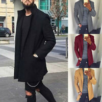 NEW Men's Winter Warm Overcoat Wool Coat Trench Tops Outwear Peacoat Long Jacket