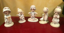 Precious Moments Set of 5 Figurines: #E-2821, #E-1372, #E1374, #112143, #524425