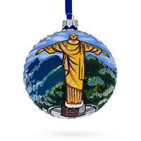 Christ the Redeemer, Rio de Janeiro, Brazil Glass Ball Christmas Ornament 4