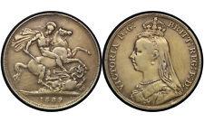 1 Crown 1889 // United Kingdom (England) Silver Coin // Queen Victoria // # 749