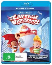 Captain Underpants (Blu-ray, 2017)  BRAND NEW & SEALED BLU-RAY  Region B (Austra