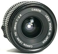 Canon FD 28mm F2.8 Wide Angle Prime Lens UK Fast Post