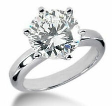 Ladies Silver Plated Single Crystal Cluster Fashion Design Ring - Size 'S'
