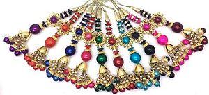 Multicolour Fancy Design Tassel Latkan Sari Blouse Bridal Sewing/Trim PK. OF 2