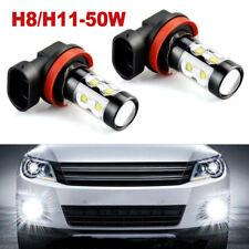 H11 H8 H9 50W LED Fog Light Bulbs Car Driving Lamp DRL 6000K HID Super White US