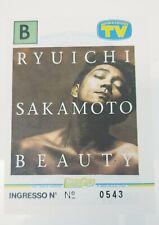 RYUICHI SAKAMOTO/YMO BEAUTY TOUR 1996 MILAN TICKET