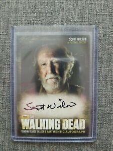 THE WALKING DEAD S3 SCOTT WILSON AUTOGRAPH TRADING CARD A11 AS HERSHEL GREENE