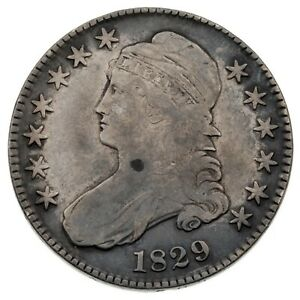1829 50C Bust Half Dollar in Fine Condition, Strong Detail for Grade