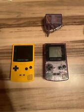Nintendo Game Boy Color Transparent und Gelb mit Pokemon Rote Edition