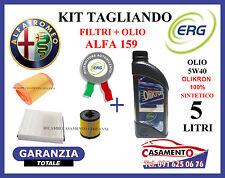 KIT TAGLIANDO FILTRI + OLIO ERG 5W40 ALFA 159 1.9 JTS 118KW 160CV 2005 IN POI
