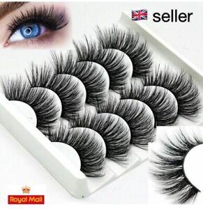 5 pair 3D Mink false eyelashes **UK SELLER**
