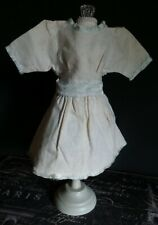 Vintage! White Dress with Blue Trims for China Head or German Bisque Dolls