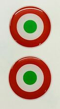 """Italy Seal Roundel 2x Small 3D Gel Stickers 3cm (1.2"""") Domed for Phone Tablet"""