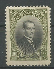 1927  TURKEY İZMİR SMYRNA FAIR 100kr HIGHEST VALUE MINT HINGED