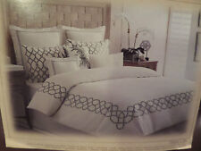Tommy Bahama TRELLIS Bed Skirt Dust Ruffle KING Bedding Off White Ivory NEW