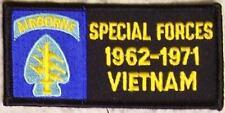 Embroidered Military Patch Vietnam Tour Special Forces Airborne badge NEW dark
