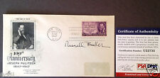 Russell Baker Signed Postal Cover Psa/Dna Autograph Pulitzer Prize Growing Up