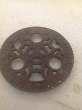 Old Vintage Antique Cast Iron Trivet Hot Plate Griddle Patent January 15, 1902