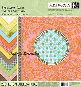 Beyond Postmarks Speciality Scrapbooking 12X12 Paper Pad 28 Sheets K&Company NEW
