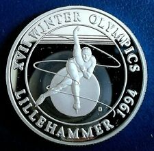 More details for turks & caicos: 1993 20 crowns winter olympics c 1 troy oz silver proof cap cert