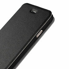 "For iPhone 6/6s 4.7"" Black Leather Ultra Slim Book Style Flip Case Cover Stand"