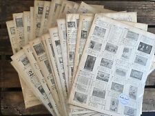 A4 Paper Craft Pack - Decoupage & Scrapbooking - Old Vintage Stamp Book Pages
