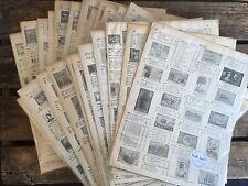A4 paquete de arte de papel-Decoupage & Scrapbooking-sello vintage antiguas páginas del libro