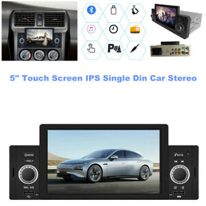 """HD 5"""" Touch Screen IPS Single Din Car Stereo Radio FM USB AUX TF Mirror Link MP5"""