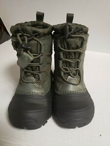 Toddler Northface Winter Boots Size 11 Waterproof Thermafelt Green/Black