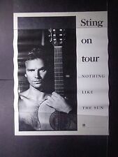 """+/ Sting ( The Police) Promotional Poster-""""The Sun"""" 1988 - 24X32"""""""