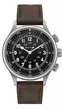 Bulova 96A245 Automatic A-15 Pilot 21 Jewel Military Watch 200 Meter Box Papers