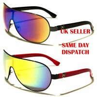 Limited Shield Khan Designer Oversized Pilot Mens Womens Sunglasses 100%UV400 87