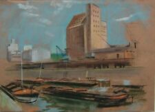 Der Rheinauhafen in Mannheim - Pastell