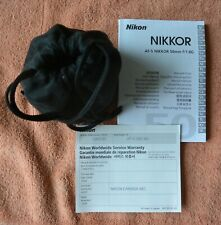 LIKE-NEW  Nikon Nikkor AF-S 50mm f/1.8 G lens