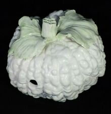 large handcrafted MAJOLICA CAULIFLOWER TUREEN (ITALY) MINT