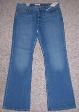 LEVI'S Blue Denim 545 Low Rise Bootcut Sits on Hips Jeans Size 14 NWT