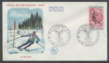 FRANCE FDC - 1547 2 JO SKI SLALOM - GRENOBLE 27 Janvier 1968 - LUXE