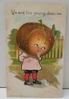 Cantaloupe Head Veggie People 1907 Fantasy Farm Lady Anthropomorphic Postcard