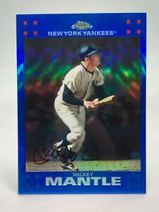 Mickey Mantle Yankees 2007 Topps Chrome Blue Refractor #4 **FREE SHIPPING**