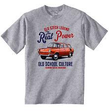 Vintage Tschechische Auto Skoda Kombi 1000-NEU Baumwolle T-Shirt