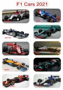 F1 FlexibleFridge Magnets of Formula One Cars for 2021 complete set of 10