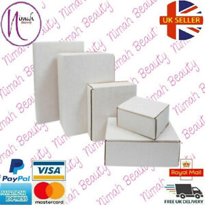 WHITE SHIPPING CARDBOARD BOXES POSTAL MAILING GIFT PACKET PACKING ALL SIZES