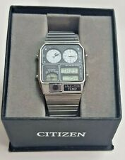 VINTAGE CITIZEN ANA-DIGI TEMP WATCH 8982 089618 silver sub dial  MADE IN JAPAN