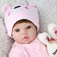 20'' Realistic Reborn Baby Dolls Newborn Vinyl Silicone Girl Doll Best Xmas Gift