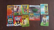 lote de 10 calendarios de serie fubol del F.C. Barcelona años 90