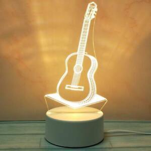 Creative 3D LED Night Light USB Table Lamp Illusion Lamp Kids Girl Birthday Gift