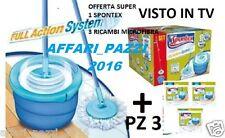 SPONTEX Aqua SISTEMA DI RIVOLUZIONE IN MICROFIBRA SPIN MOP /& periodo fisso