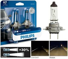 Philips VIsion 30% H7 55W Two Bulbs Head Light Low Beam Replace Plug Play Lamp