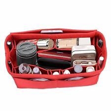 Felt Purse Handbag Insert Bag Organizer Fits Speedy 30 Neverfull MM Red Medium