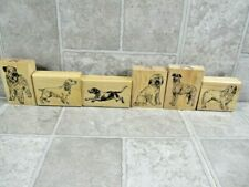 Stamp Cabana Rubber Stamps Lot of 6 Dog Breeds Spaniels Briard Hounds Etc